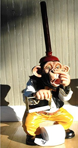 Monkey Butler Toilet Paper Holder Nose 3 39 Statue Funny Ape