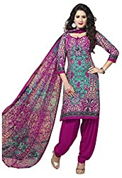 VSS Collections Women's Synthetic Unstitched Dress Material(1051,Multi-Color)