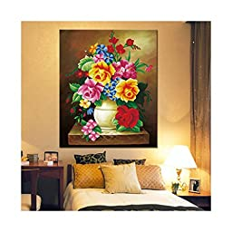 Cross Stitch 5D DIY Magic Cube Diamond Round Diamond Full-jewelled Fragrant Vase Diamond Painting Bedroom Flower