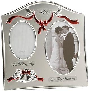 Amazon.com: 40th Wedding Anniversary Photo Album With Double ...