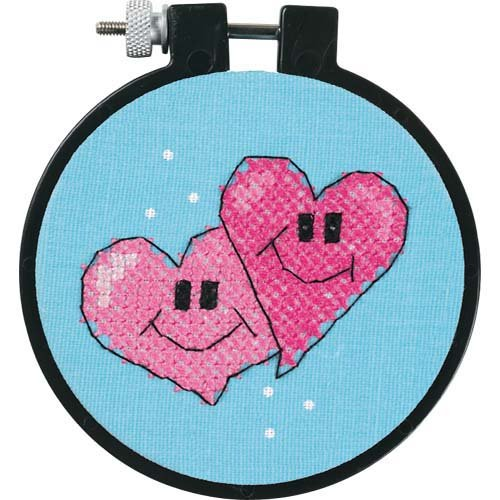 Dimensions Needlecrafts Stamped Cross Stitch, A Pair Of Hearts