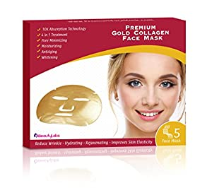 iBeautyLabs Collagen Face Mask with 10X Absorption Anti Aging Treatment