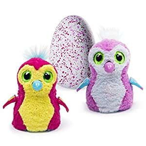 Hatchimals - Hatching Egg - Interactive Creature - Penguala - Pink Egg by Spin Master from Hatchimals