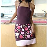 Funky Dots Burgundy Apron