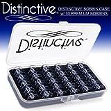 Distinctive Premium Bobbin Box Case with 30 Premium Style 15J Bobbins Made for Singer Sewing Machines