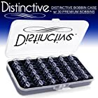 Distinctive Premium Bobbin Box Case with 30 Premium Style SA156 Bobbins Made for Brother Sewing Machines
