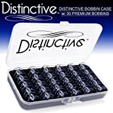 Distinctive Premium Bobbin Box Case with 30 Premium Style 15J Bobbins Made for Singer Sewing Machines