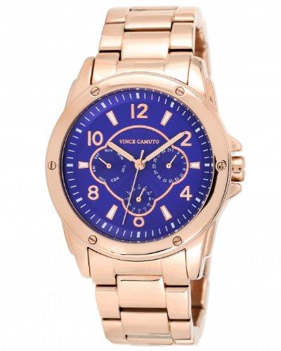 Vince Camuto VC/5042BLRG - Reloj de cuarzo para mujer, correa de acero inoxidable color dorado