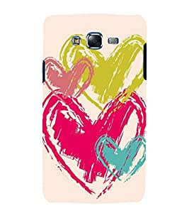 printtech Love Heart Design Back Case Cover for Samsung Galaxy E7 / Samsung Galaxy E7 E700F