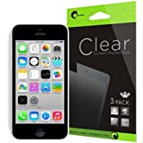 i-Blason 3 Pack for Apple iPhone 5C Screen Protectors Premium HD Clear Version (AT&T, Verizon, Sprint, T-mobile, All Carriers) Life Time Warranty