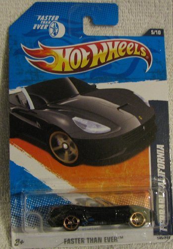 Hot Wheels 2011-145 Ferrari California BLACK Faster Than Ever 1:64 Scale