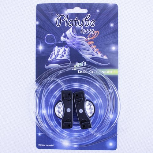 Coffled®1Pair Led Light Up Shoe Shoelaces Flash Glow Stick Shoestring For Outdoor Sports Blue