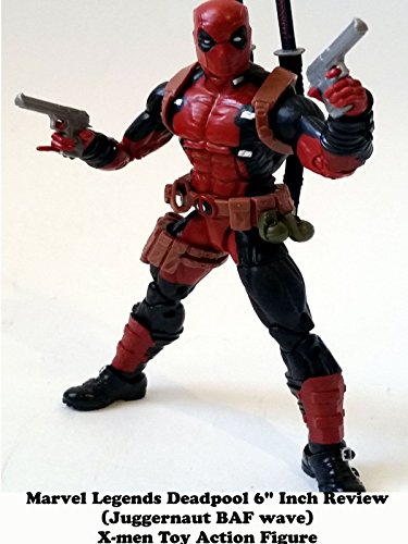 "Marvel Legends DEADPOOL 6"" inch Review (Juggernaut BAF) X-men toy action figure"
