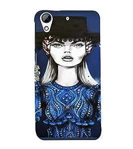 PrintVisa Beautiful Girl Art 3D Hard Polycarbonate Designer Back Case Cover for HTC Desire 728