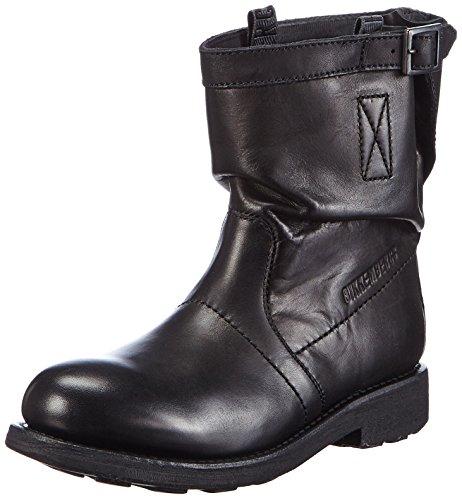 Bikkembergs Vintage 716 L.Boot W Dyed Leat Scarpe a collo alto, Donna, Nero, 39