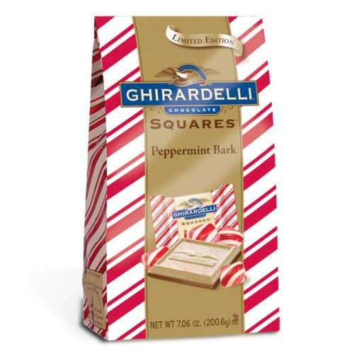 Ghirardelli Chocolate Squares, Peppermint Bark, 7.06-Ounce Packages (Pack of 12)