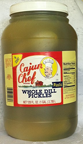 Cajun Chef Whole Dill Pickles 1gal Plastic Jar (Jar Of Dill Pickles compare prices)
