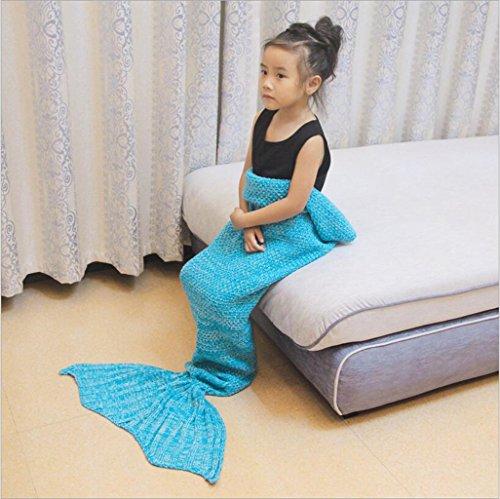 WEISHENMEN I bambini della sirena coperte a maglia ragazze s 'Coperta creativa del sofà della coperta Dimensioni: 150cm * 70cm BULAIDANZI