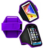 Wayzon Purple Adjustable Sports GYM Jogging Running Riding Bike Cycling Dancing Armband Case Cover Skin Pouch Holster For Samsung Galaxy Y Pro B5510