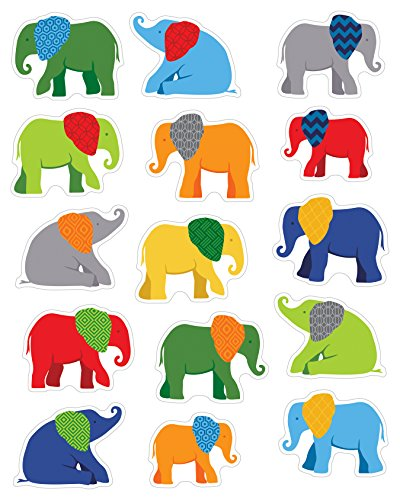 Carson Dellosa Parade of Elephants Shape Stickers (168186)
