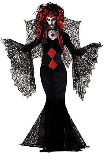 Costumes For All Occasions MR147069 Nightmare Black Widow Large