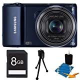Picture Of Samsung WB150F Smart Wi-Fi Digital Camera Bundle Includes 8 GB Memory Card, Card Reader, Deluxe Carrying Case, Mini Tripod, and 3Pcs. Lens Cleaning Kit. Review