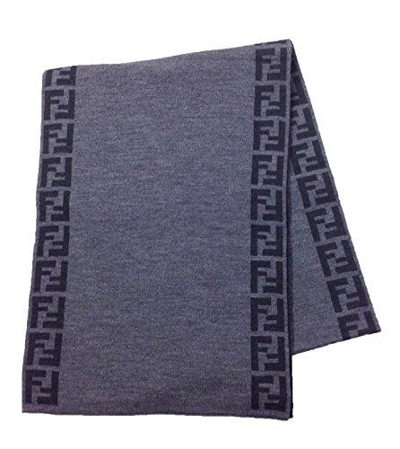 fendi-knit-monogram-wool-scarf-zucca-stripe-antracite-grey