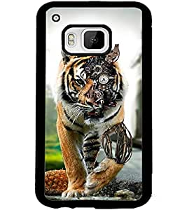 ColourCraft Creative Tiger Image Design Back Case Cover for HTC ONE M9