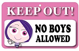 keep out door sign no boys allowed amazoncouk