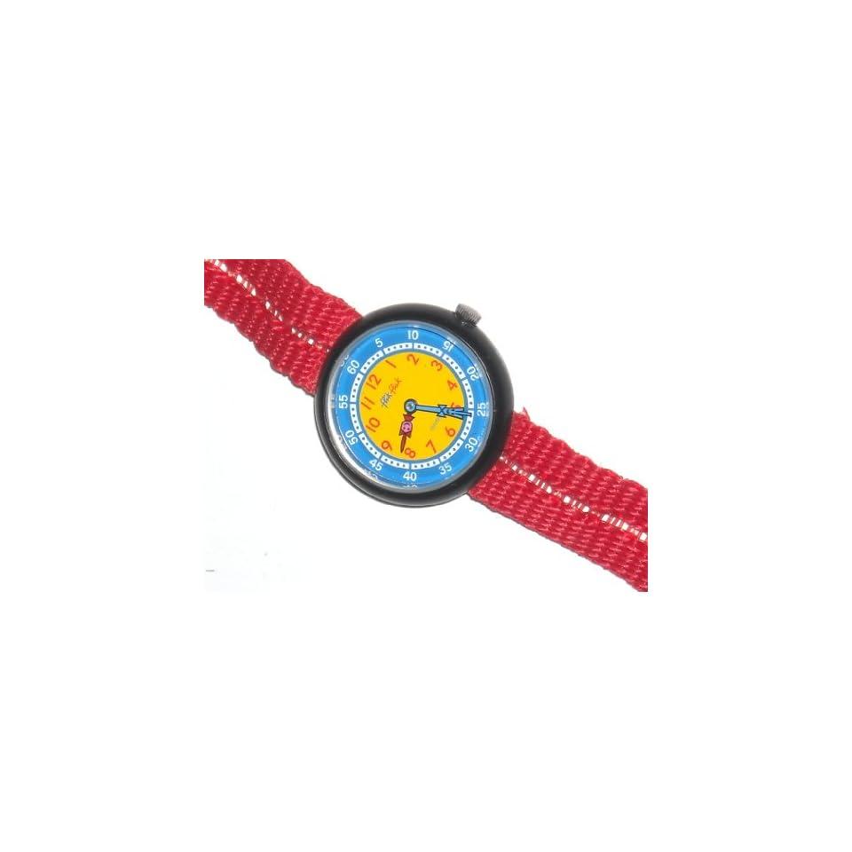 Flik Flak New Red, Childs Swiss Quartz Teaching Watch Electronics