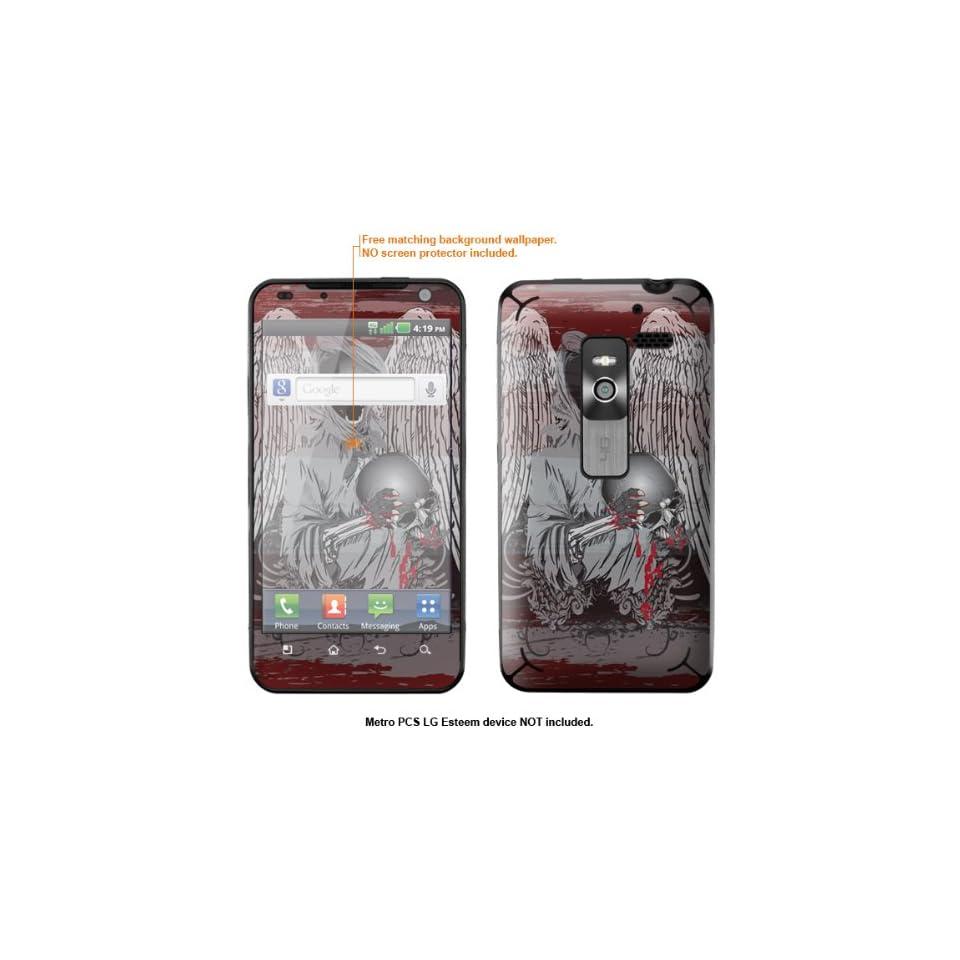 Protective Decal Skin Sticker for Metro PCS LG Esteem 4G case cover Esteem 424