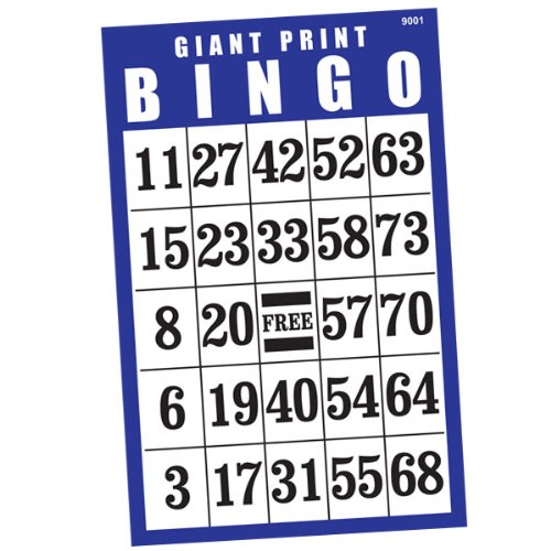 Best Deals! Giant Print BINGO Card- Blue