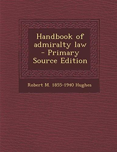Handbook of admiralty law