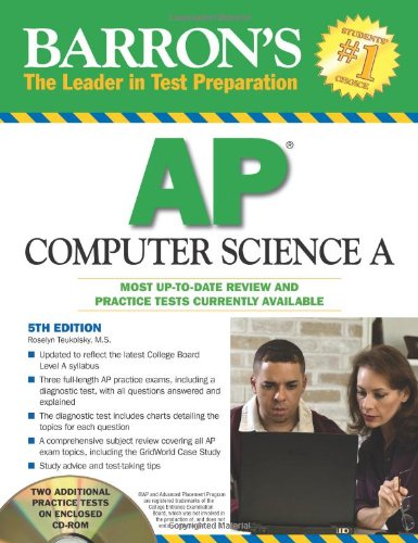 Barron's AP Computer Science A with CD-ROM (Barron's: Leader in Test Preparation)