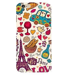 Paris Special 3D Hard Polycarbonate Designer Back Case Cover for Apple iPhone 6S