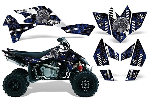 2006-2009 Suzuki LTR 450 AMRRACING ATV Graphics Decal Kit:Toxicity-White-Blue (Ltr 450 Graphics compare prices)