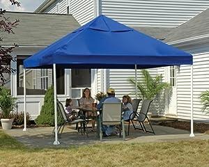 ShelterLogic 12 x 12- Feet Canopy 2- Inch 4-Leg Frame, Blue Cover by ShelterLogic