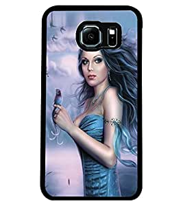ColourCraft Girl Design Back Case Cover for SAMSUNG GALAXY S6 EDGE