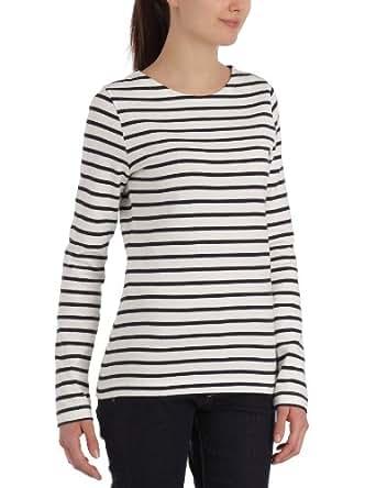 Petit Bateau - Sweat-Shirt - Femme - Lait/Smoking - XS/12 ans