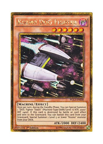 遊戯王 英語版 PGL3-EN030 Kozmo DOG Fighter (ゴールドシークレットレア) 1st Edition