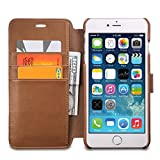 Funda iPhone 6 Plus Funda iPhone 6s Plus OCASE [Incluye Protector de Pantalla de Vidrio Templado Gratis] Funda de Piel para Apple iPhone 6/6s Plus Dispositivos, Ranuras para Tarjetas, Soporte Plegable, Cierre Magn�tico - Marr�n