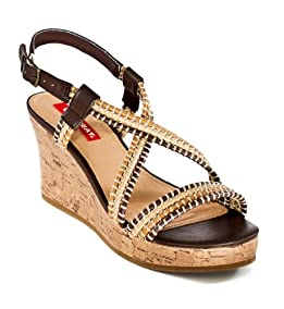 Rocks Wedge Sandals