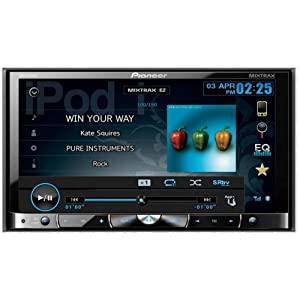 Pioneer AVH-P8400BH 2-DIN Multimedia DVD Receiver with 7-Inch Widescreen Touch Panel Display, Advanced App Mode, Built-In Bluetooth, and HD Radio
