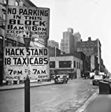 Photo Hack Stand 18 Taxicabs New York City 1944