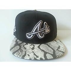 New Era MLB Atlanta Braves Strapback Cap, Hat: Snake Skin Style by New Era