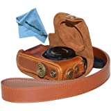 "MegaGear ""Ever Ready"" Protective Light Brown Leather Camera Case, Bag for Canon Power Shot S120"