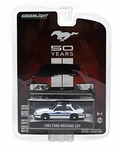 1993 FORD MUSTANG SSP (Police Vehicle) * MUSTANG 50 YEARS * 2015 Greenlight Collectibles Anniversary Collection Series 2 Limited Edition 1:64 Scale Die-Cast Vehicle