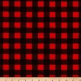 Flannel Buffalo Plaid Red/Black Fabric By The Yard