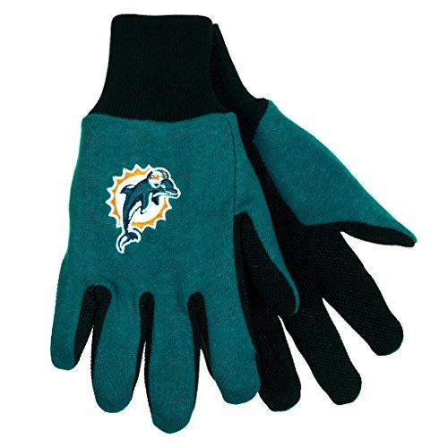 NFL Football Multi Color Team Logo Sport Gloves - Pick Team (Miami Dolphins) (Reggie Bush Miami Dolphins compare prices)