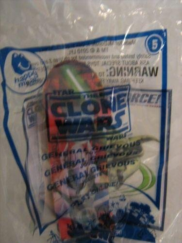 McDonalds Happy Meal Star Wars The Clone Wars General Grievous #5 Mini Skateboard Toy 2010 - 1